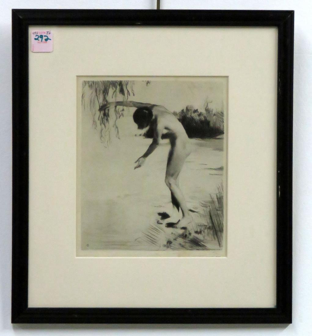 GERMAN SCHOOL (20TH CENTURY), ETCHING, NUDE, SIGNED