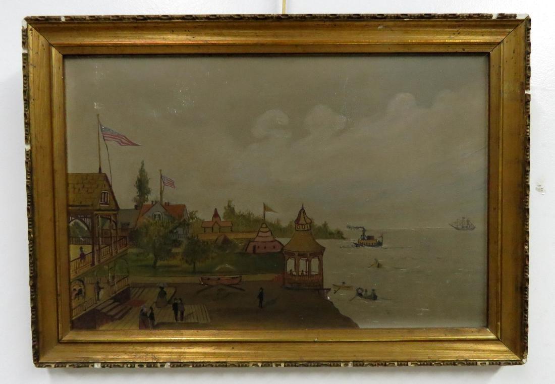 AMERICAN SCHOOL (19/20TH CENTURY), FOLK ART, SEASIDE