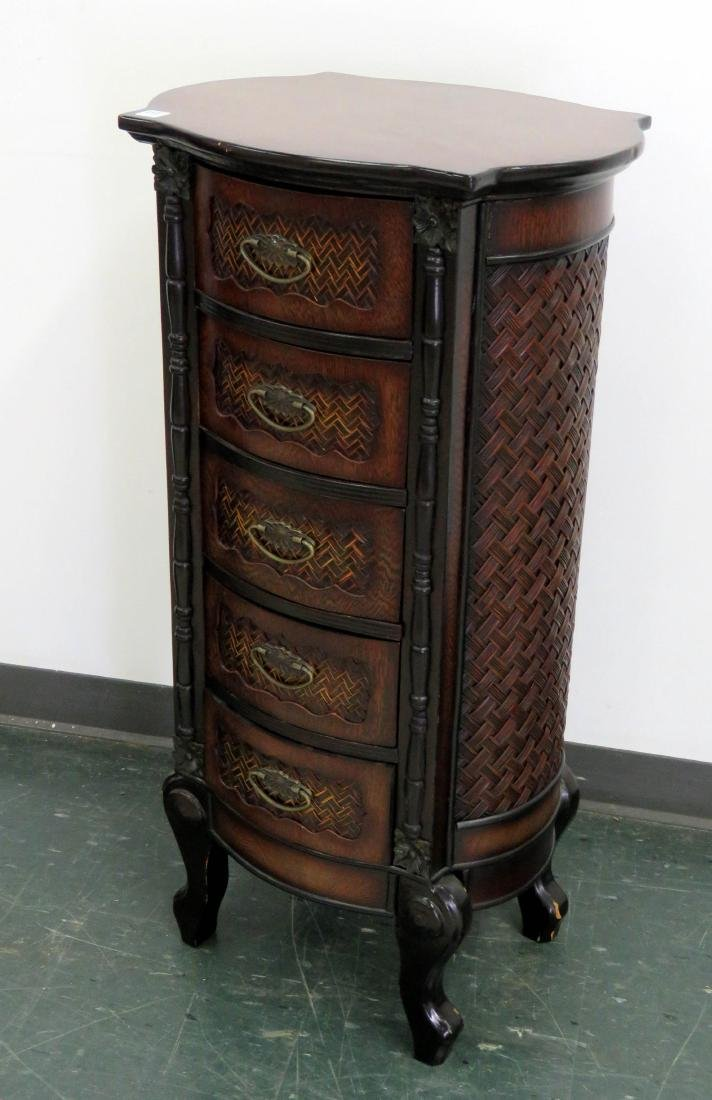 ANGLO-INDIAN CONTEMPORARY ROSEWOOD 5-DRAWER LINGERIE
