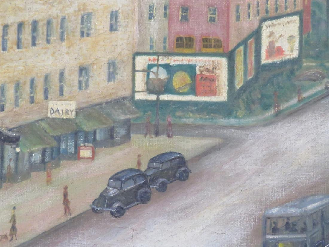 AMERICAN SCHOOL (20TH CENTURY), OIL ON CANVAS, NY URBAN - 3
