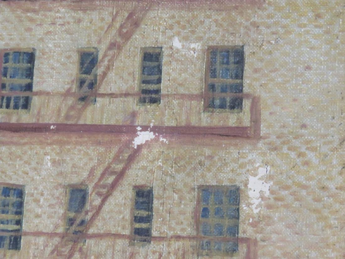 AMERICAN SCHOOL (20TH CENTURY), OIL ON CANVAS, NY URBAN - 4