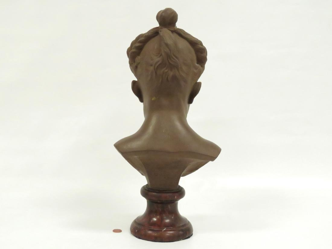 FRENCH (20TH CENTURY), TERRA COTTA BUST OF A GIRL ON - 4