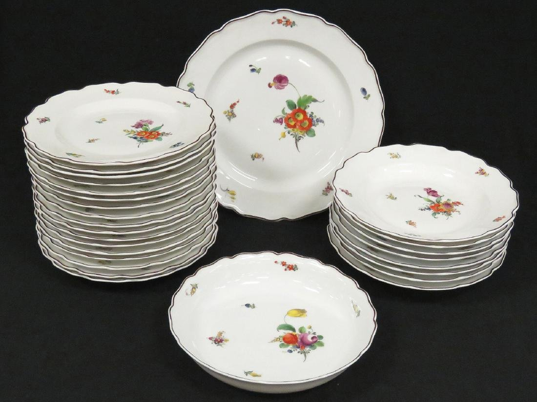 LOT (27) NYMPHENBURG HAND DECORATED PORCELAIN INCLUDING