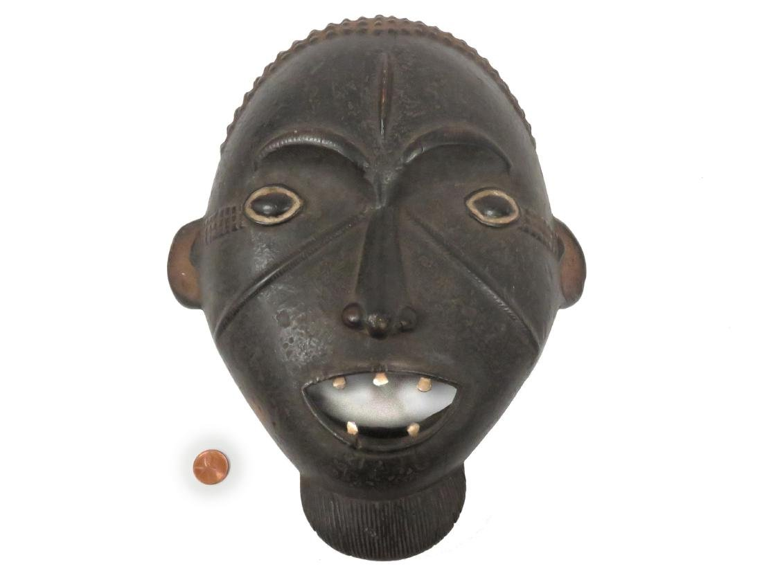 INGALA, NIGERIA, CARVED AND PAINTED RITUAL MASK. HEIGHT