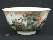 CHINESE DECORATED PORCELAIN DOUCAI BOWL, 19/20TH