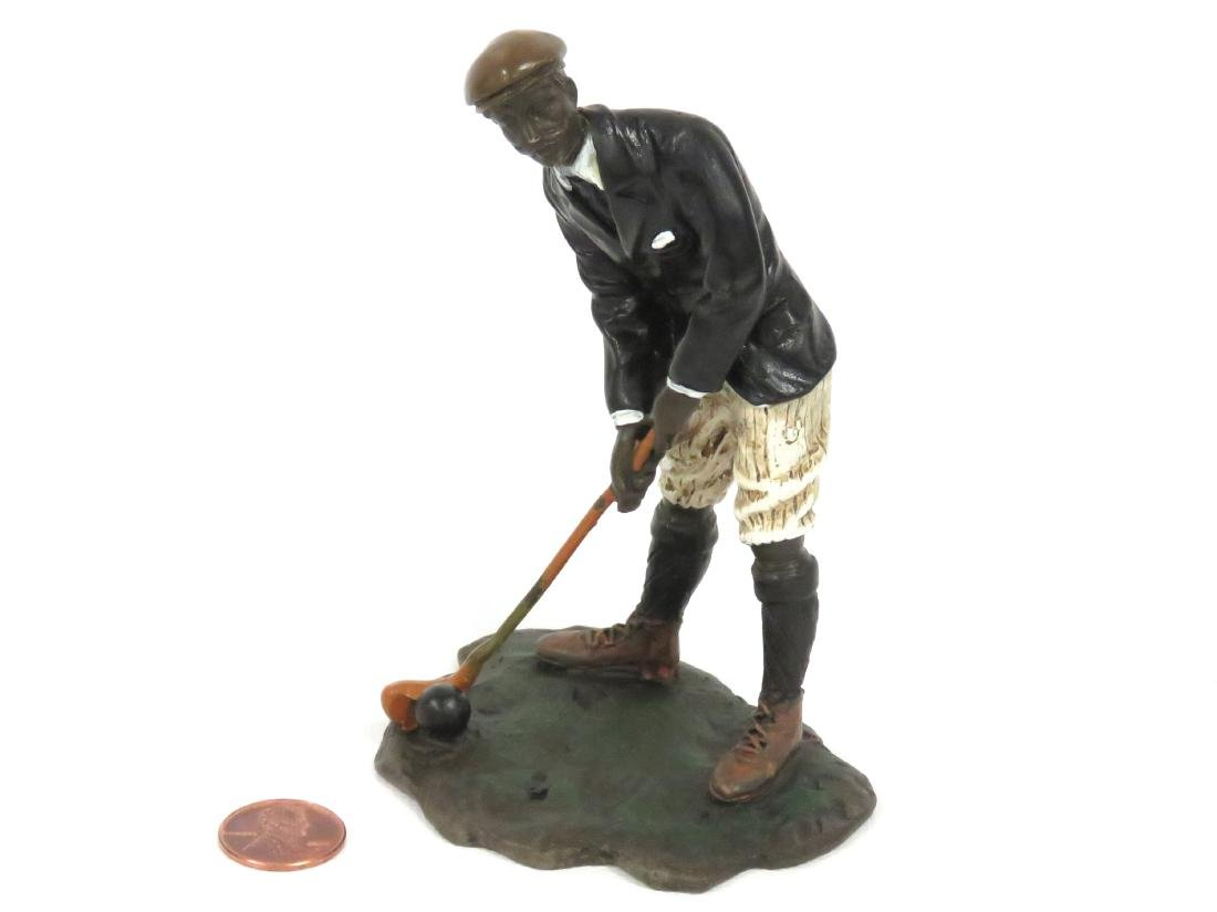 COLD PAINTED VIENNA BRONZE, GOLFER, SIGNED. HEIGHT 4