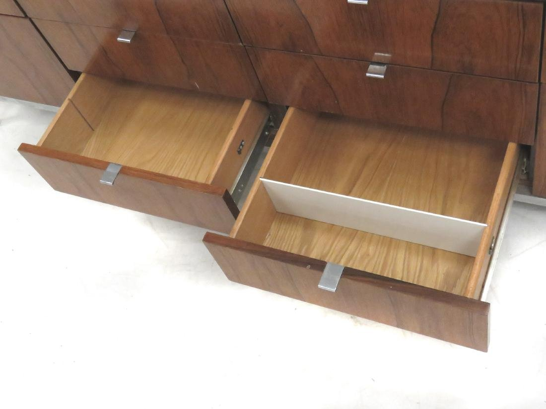 ROSEWOOD AND CUSTOM ORDER BLACK MARBLE CREDENZA, KNOLL - 3