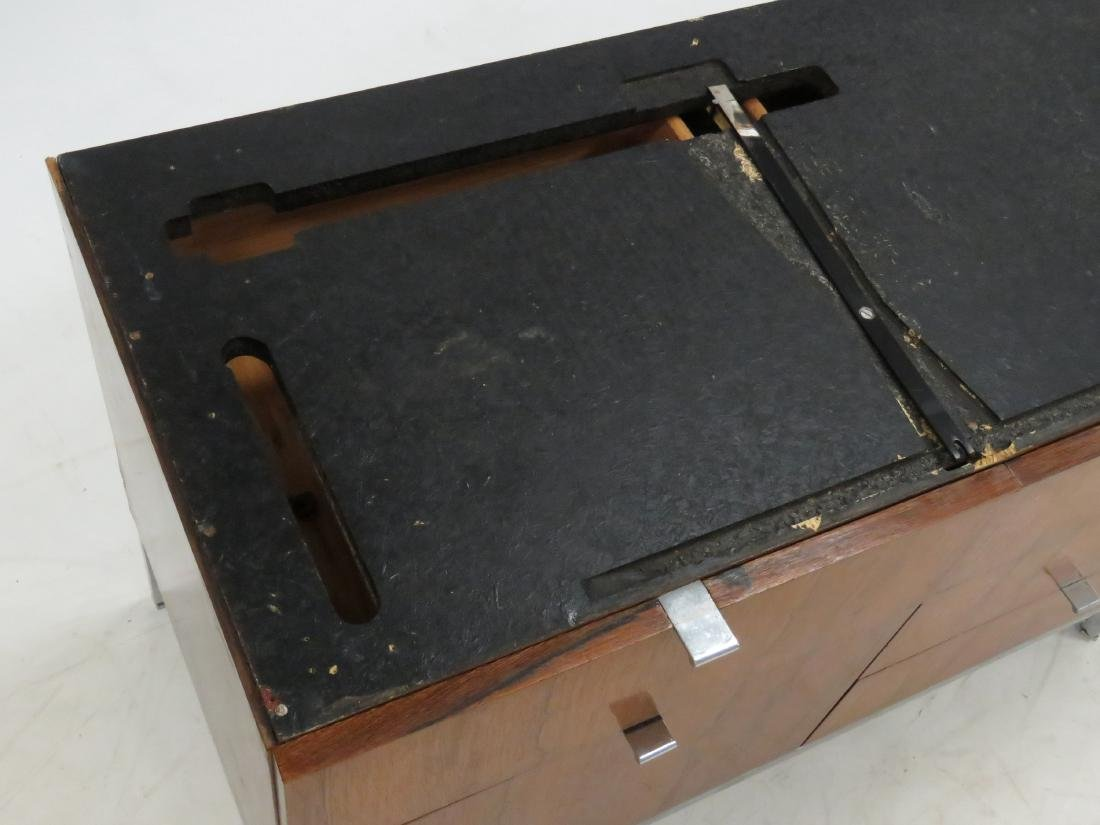 ROSEWOOD AND CUSTOM ORDER BLACK MARBLE CREDENZA, KNOLL - 6