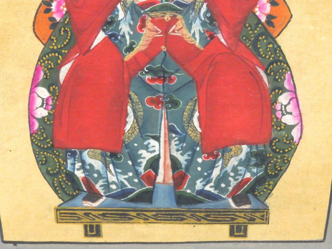 CHINESE SCHOOL (19TH CENTURY), PAIR GOUACHE ON CANVAS, - 3