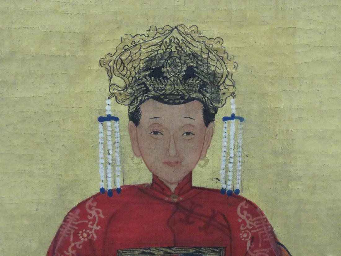 CHINESE SCHOOL (19TH CENTURY), PAIR GOUACHE ON CANVAS, - 4