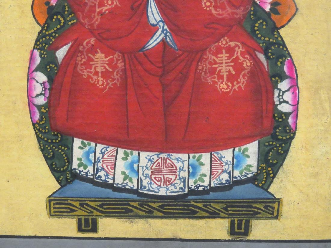 CHINESE SCHOOL (19TH CENTURY), PAIR GOUACHE ON CANVAS, - 5