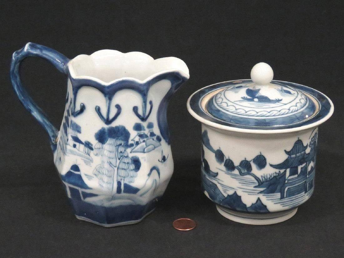 LOT (2) CHINESE CANTON EXPORT PORCELAIN INCLUDING
