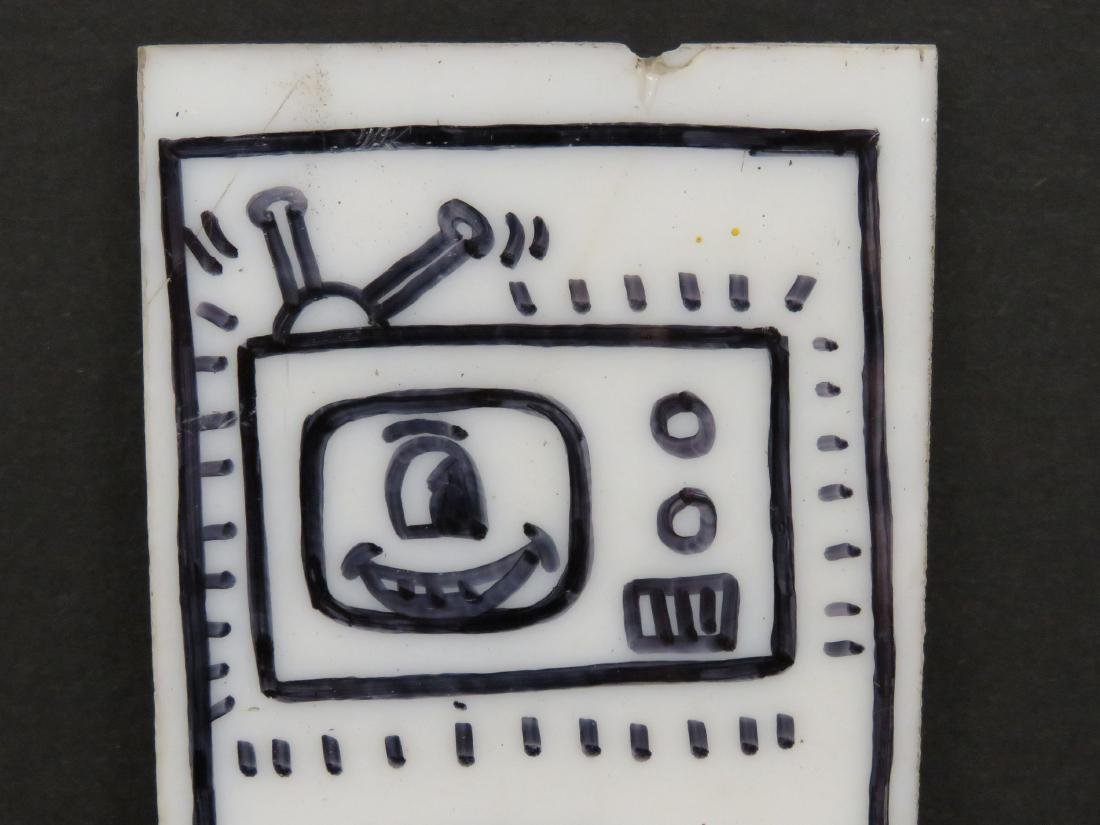KEITH HARING (AMERICAN 1958-1990), MARKER ON GLASS - 3