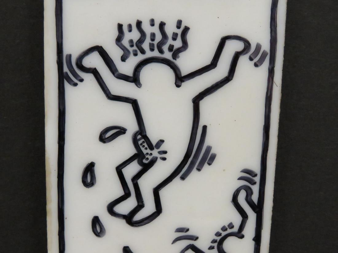 KEITH HARING (AMERICAN 1958-1990), MARKER ON GLASS - 4