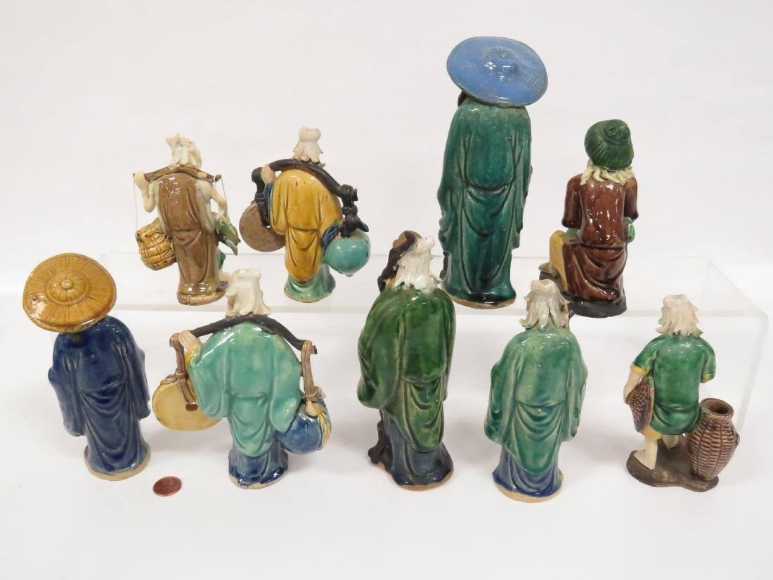 LOT (9) CHINESE ASSORTED MUD MEN, 19/20TH CENTURY. - 2