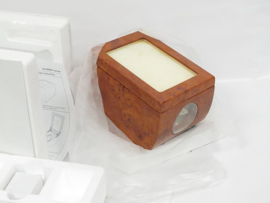 BURL WOOD AUTOMATIC (2) WRISTWATCH ELECTRIC WINDER