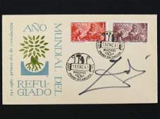 SALVADOR DALI SIGNED SPANISH FIRST DAY COVER