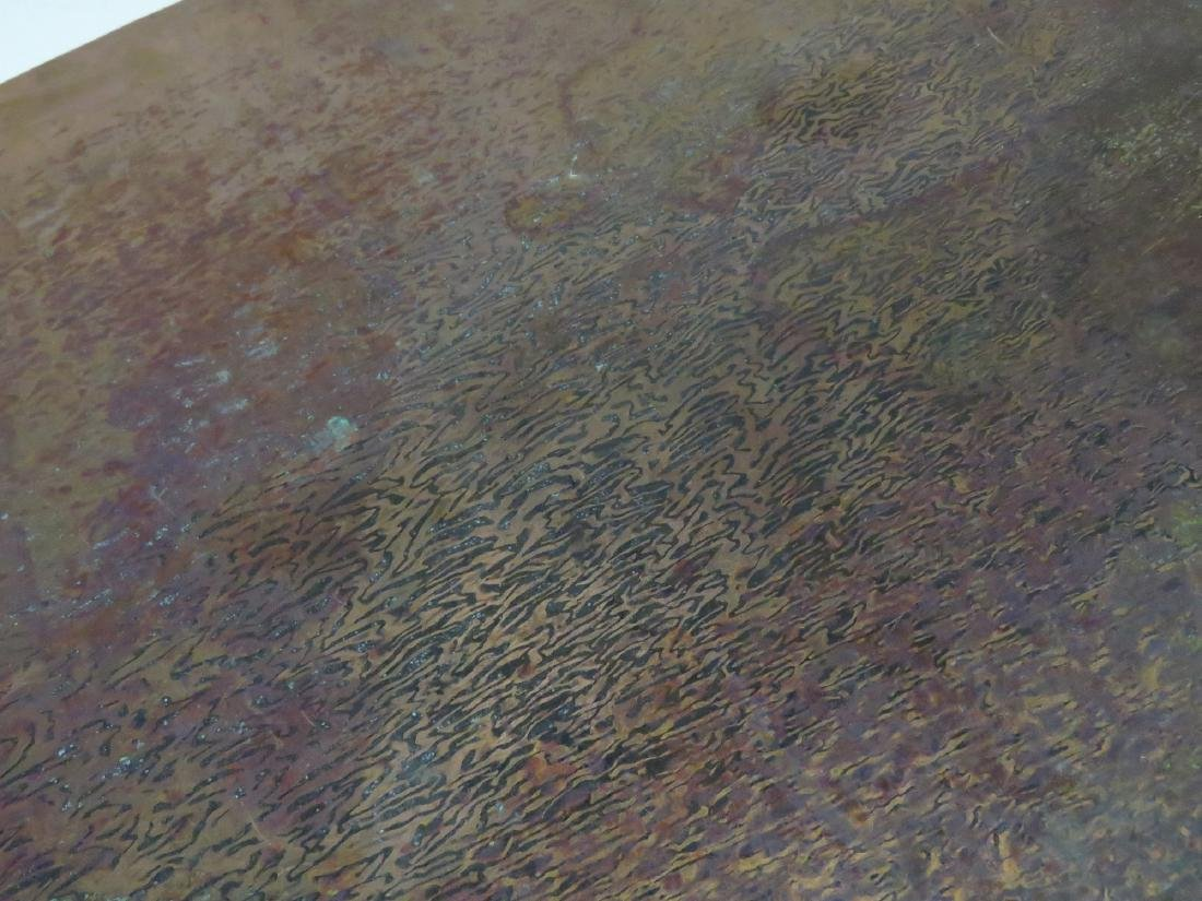 """CRAFTSMAN COPPER CLAD COFFEE TABLE. HEIGHT 18""""; WIDTH - 4"""