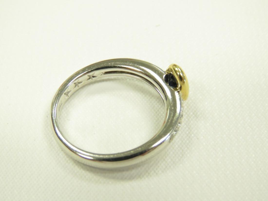 18K WHITE/YELLOW GOLD DIAMOND AND SAPPHIRE RING SET - 3