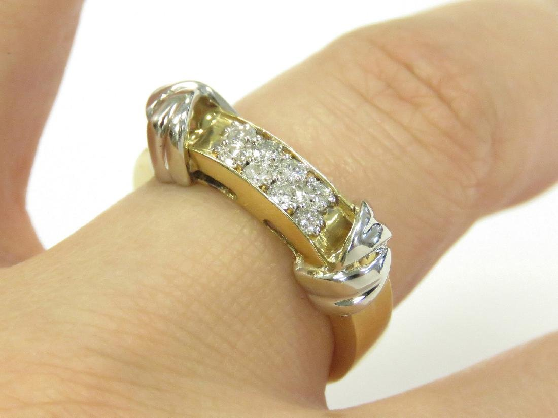 14K YELLOW/WHITE GOLD AND DIAMOND RING SET WITH (8)