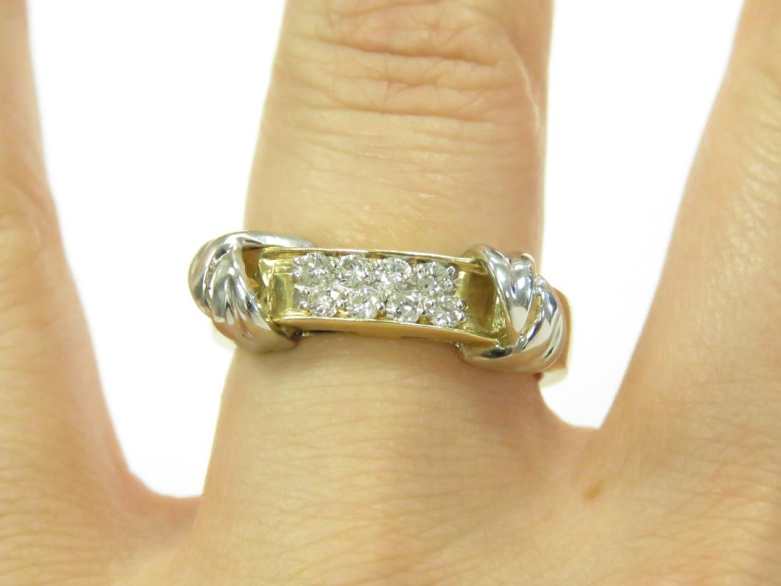 14K YELLOW/WHITE GOLD AND DIAMOND RING SET WITH (8) - 3