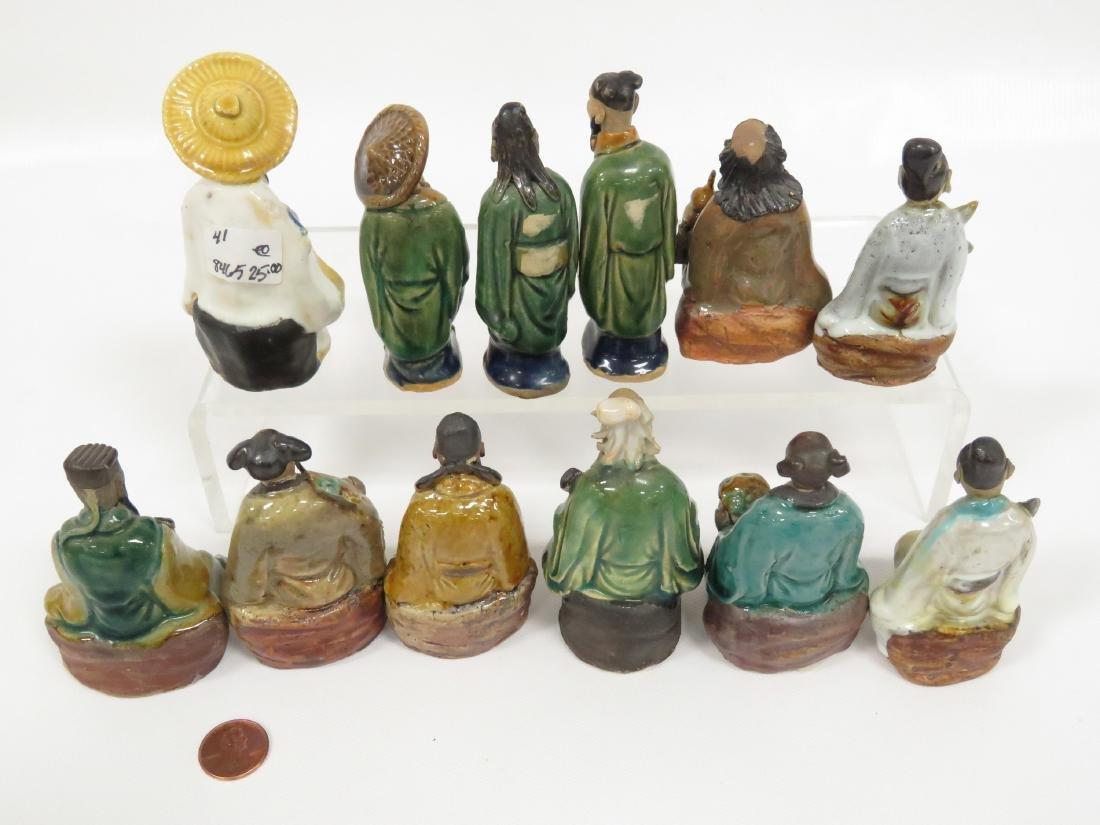 LOT (12) CHINESE ASSORTED MUD MEN, 19/20TH CENTURY. - 2