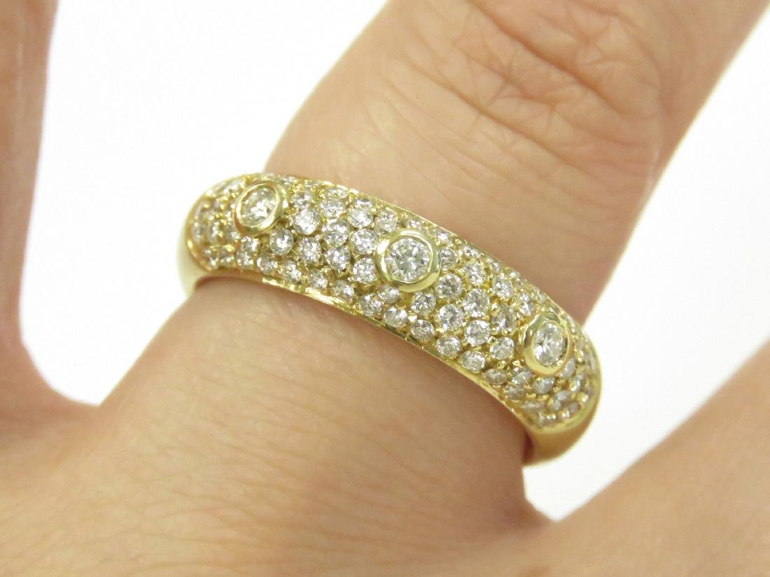 18K BURNISHED YELLOW GOLD AND DIAMOND RING SET WITH