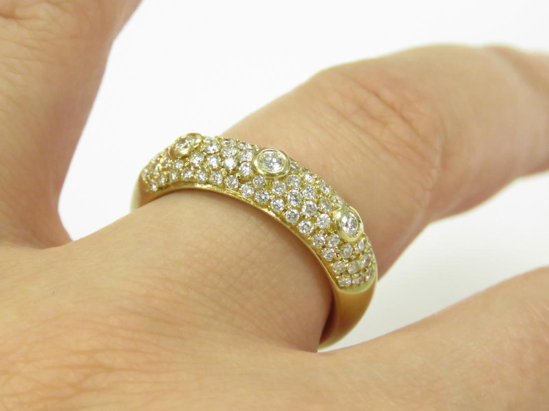 18K BURNISHED YELLOW GOLD AND DIAMOND RING SET WITH - 2