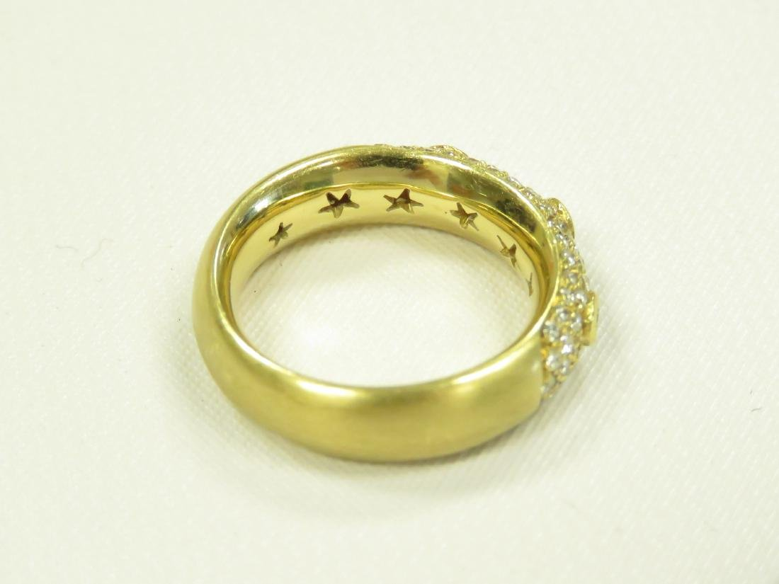18K BURNISHED YELLOW GOLD AND DIAMOND RING SET WITH - 4