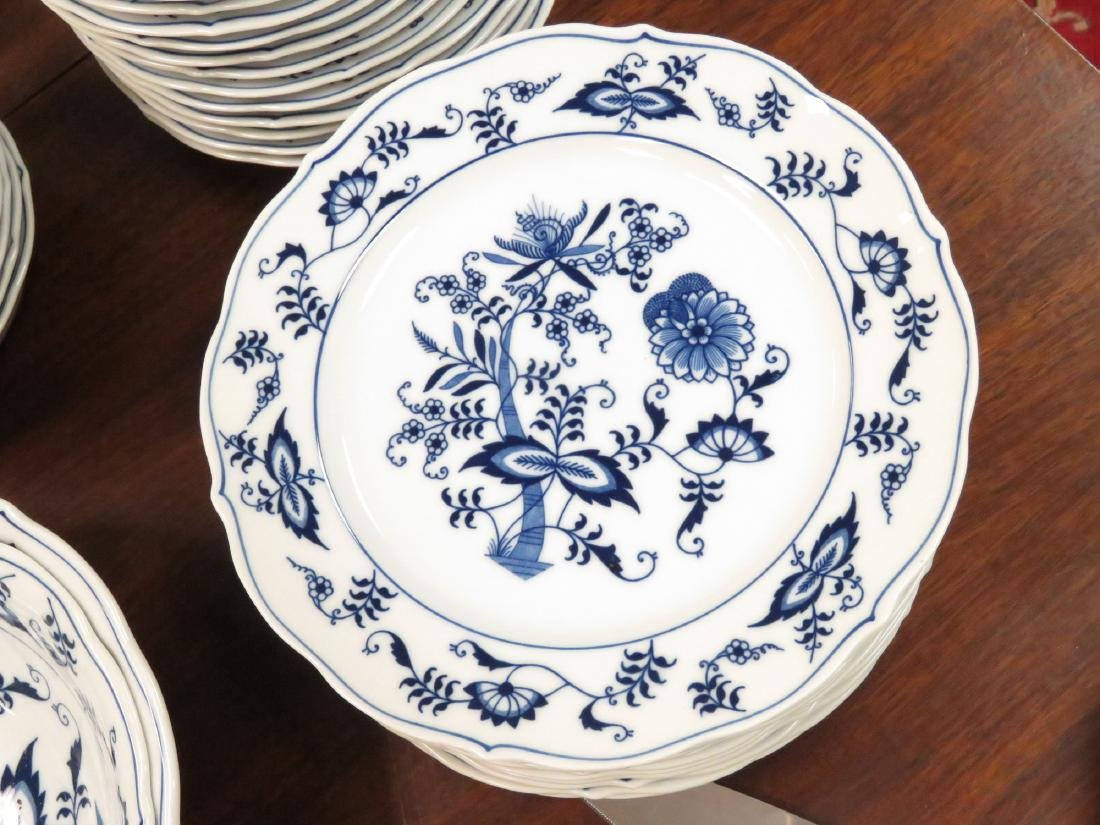 BLUE DANUBE DECORATED PORCELAIN DINNER SERVICE FOR (12) - 2