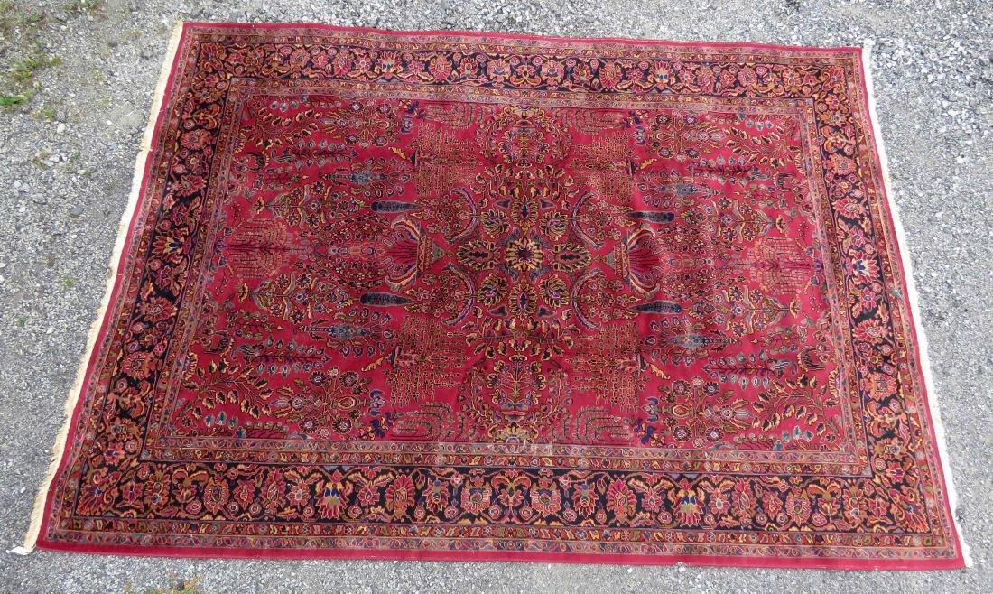 ANGLO-PERSIAN SAROUK DESIGN CARPET. 9 X 12'