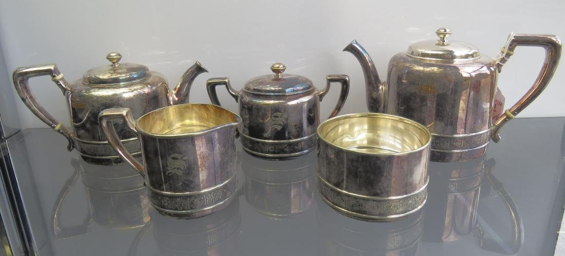 VINTAGE GORHAM SILVER SOLDERED TEA/COFFEE SET (5)