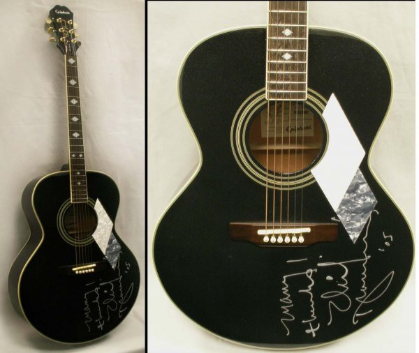 10: NEIL DIAMOND AUTOGRAPHED EPIPHONE GUITAR