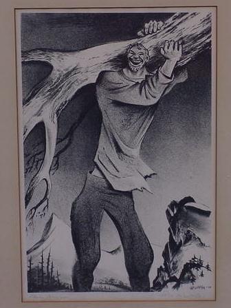 13: LITHOGRAPH , SGN. WILLIAM GROPPER