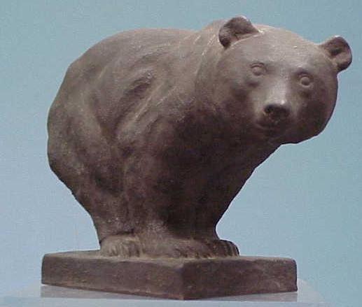18: TERRA-COTTA BEAR, MONOGRAMMED, 1925