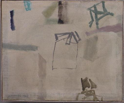 366: OIL ON CANVAS SIGNED MANUEL MOMPO 1965