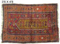 ANTIQUE TURKISH PRAYER RUG 1920TH CENTURY 42 X 56