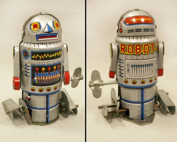 "1004: RE-ISSUE LITHO TIN MECHANICAL ""ROBOT-7"""