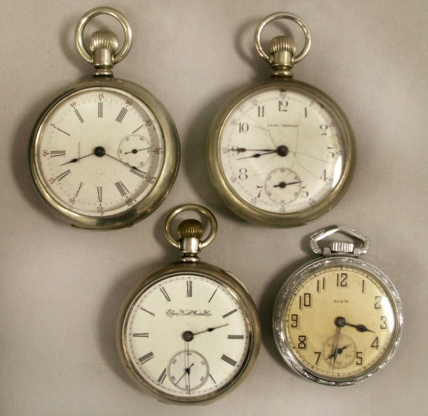 1012: LOT (4) ASSORTED VINTAGE POCKET WATCHES