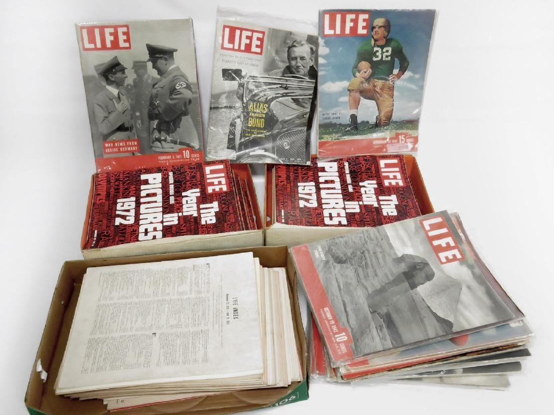 LOT LIFE MAGAZINES INCLUDING (18) 1937, 1938, 1941-42,