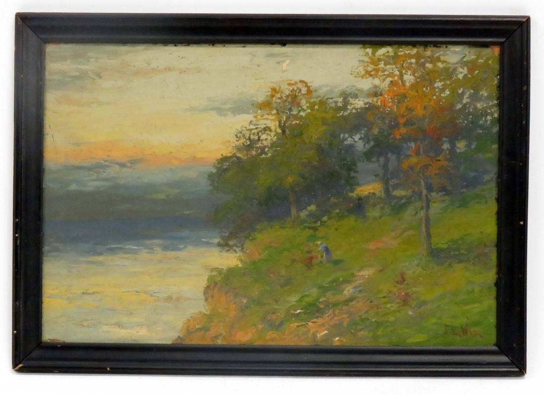 J.L. WISE (AMERICAN 19/20TH CENTURY), OIL ON ARTIST