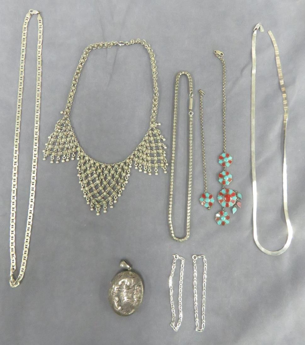 LOT ASSORTED STERLING AND SILVER INCLUDING (5)