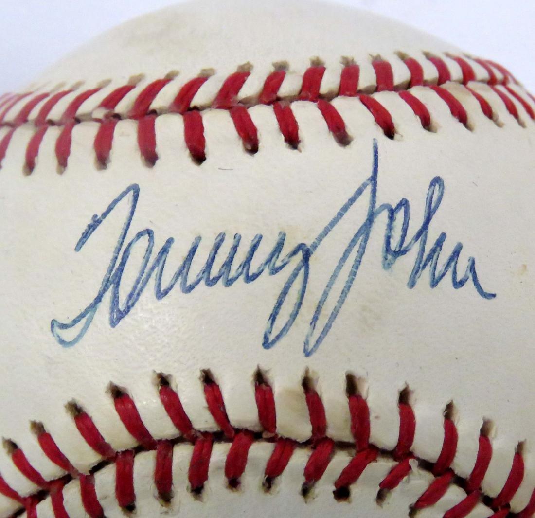 LOT (2) MLB SIGNED BASEBALLS INCLUDING TOMMY JOHN & - 2