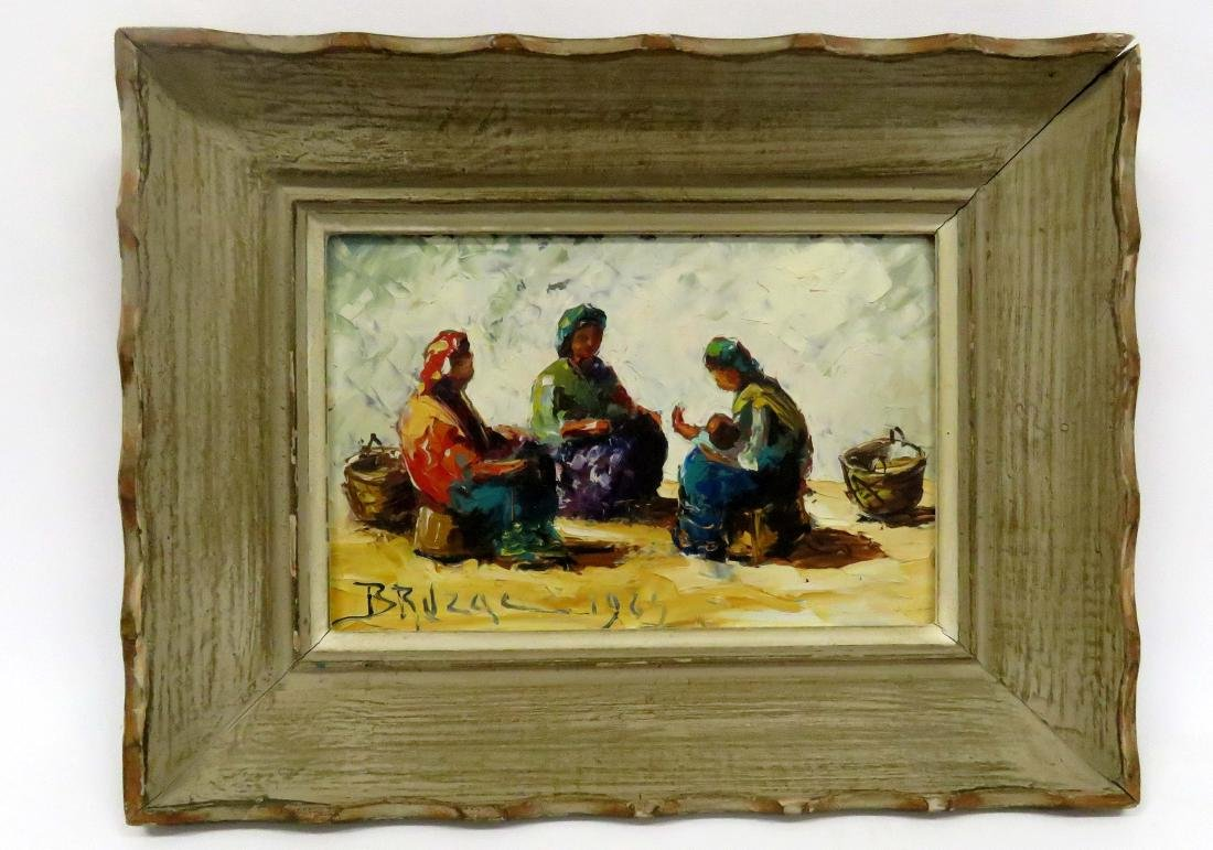 FRENCH SCHOOL (20TH CENTURY), OIL ON PANEL, FIGURES