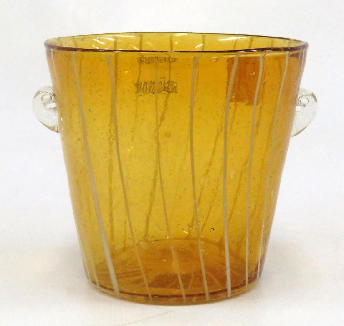 "VENINI FOR DISARONNO, ART GLASS ICE BUCKET. HEIGHT 5"""