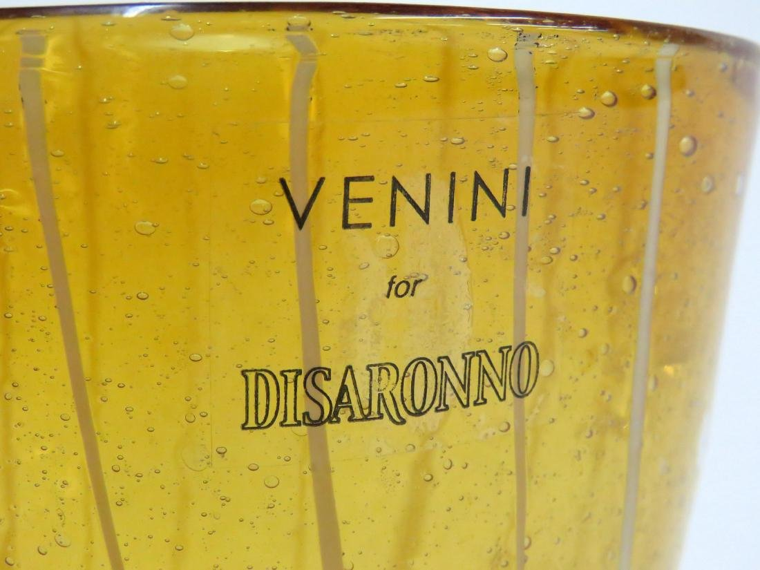 "VENINI FOR DISARONNO, ART GLASS ICE BUCKET. HEIGHT 5"" - 2"