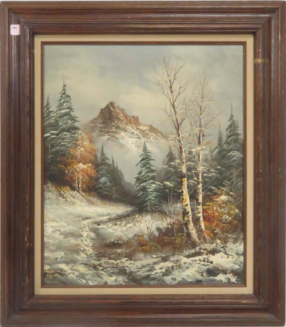 AMERICAN SCHOOL (20TH CENTURY), OIL ON CANVAS, WINTER
