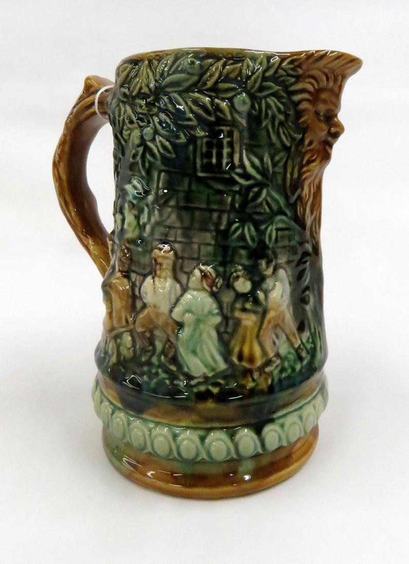 FRIE ONNAING, FRANCE, MAJOLICA DECORATED FIGURAL