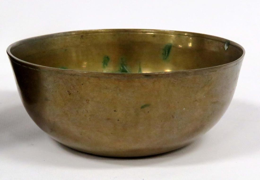 LOT (2) CHINESE/S.E. ASIAN BRONZE/MIXED METAL BOWLS. - 2