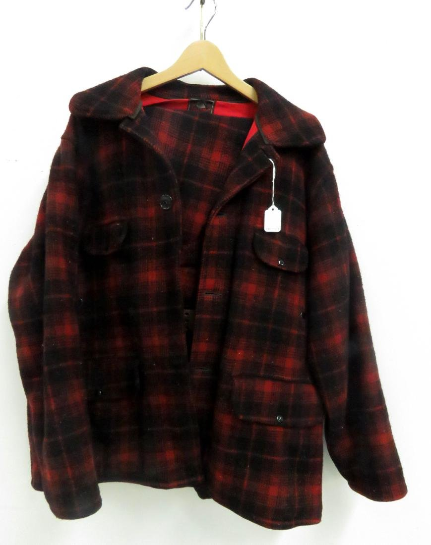 LOT (2) INCLUDING RED AND BLACK PLAID INSULATED HUNTING